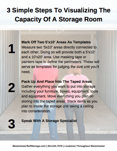 Storage Units 3 steps to visualizing the capacity of a storage room PDF screenshot