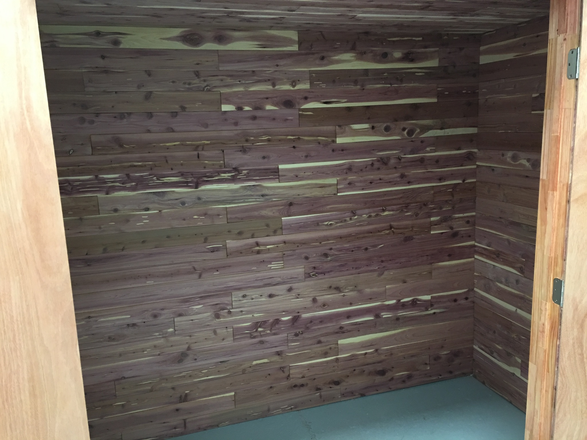 Cedar Closet unit interior photo